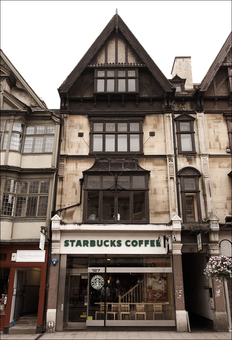 Starbucks in oxford, england. and this one looked especially out of place!