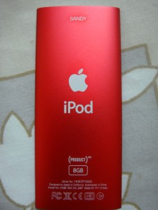 Sandy's ipod